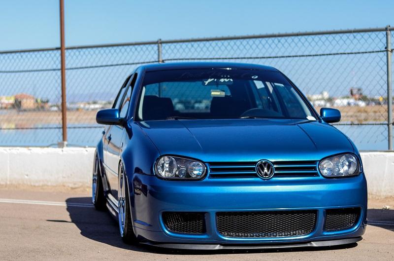 Blue Volkswagen Golf